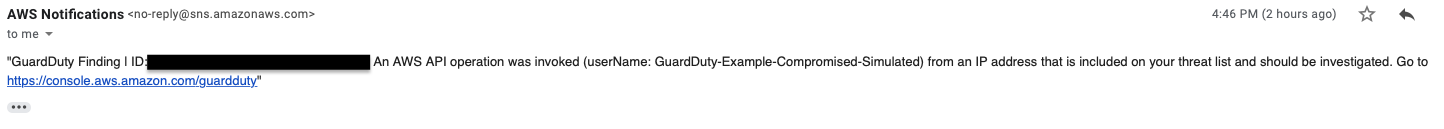 Alert: GuardDuty Finding